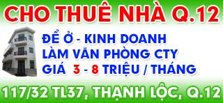 Cho thuê nhà Thạnh Lộc Quận 12