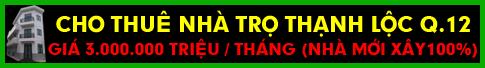 Cho thuê nhà Thạnh Lộc Q.12
