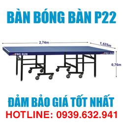 Bàn bóng bàn Bình Minh P22 giá tốt nhất